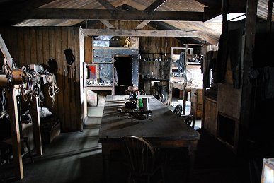 The interior of of the hut at Cape Evans